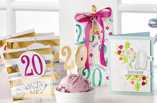 Stampin' Up Number of Years Birthday Cards & Gift Packaging