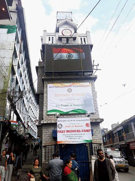 Rotary clock tower in Darjeeling Town