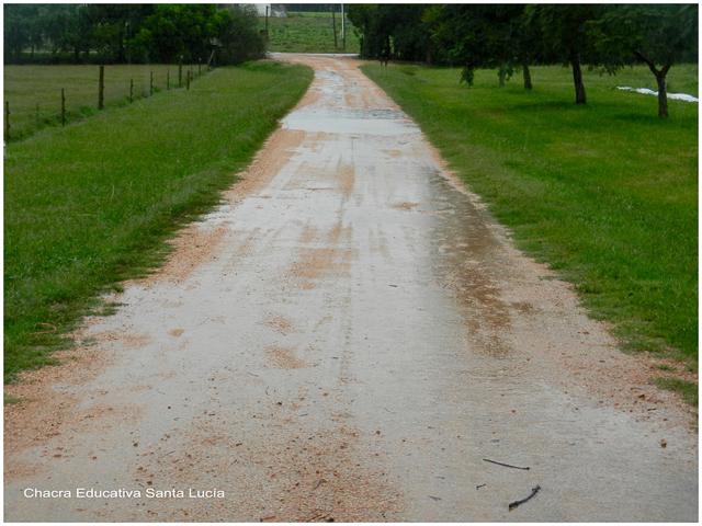 El exceso de lluvia también afecta los caminos y rutas - Chacra Educativa Santa Lucía