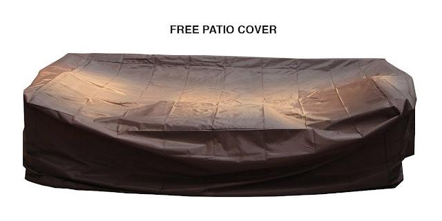 Ohana 7-Piece Outdoor Wicker Patio Sofa Set with Free Patio Cover, Sunbrella Beige