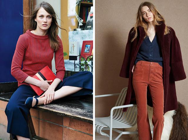 Топ и брюки приглушенного красного цвета