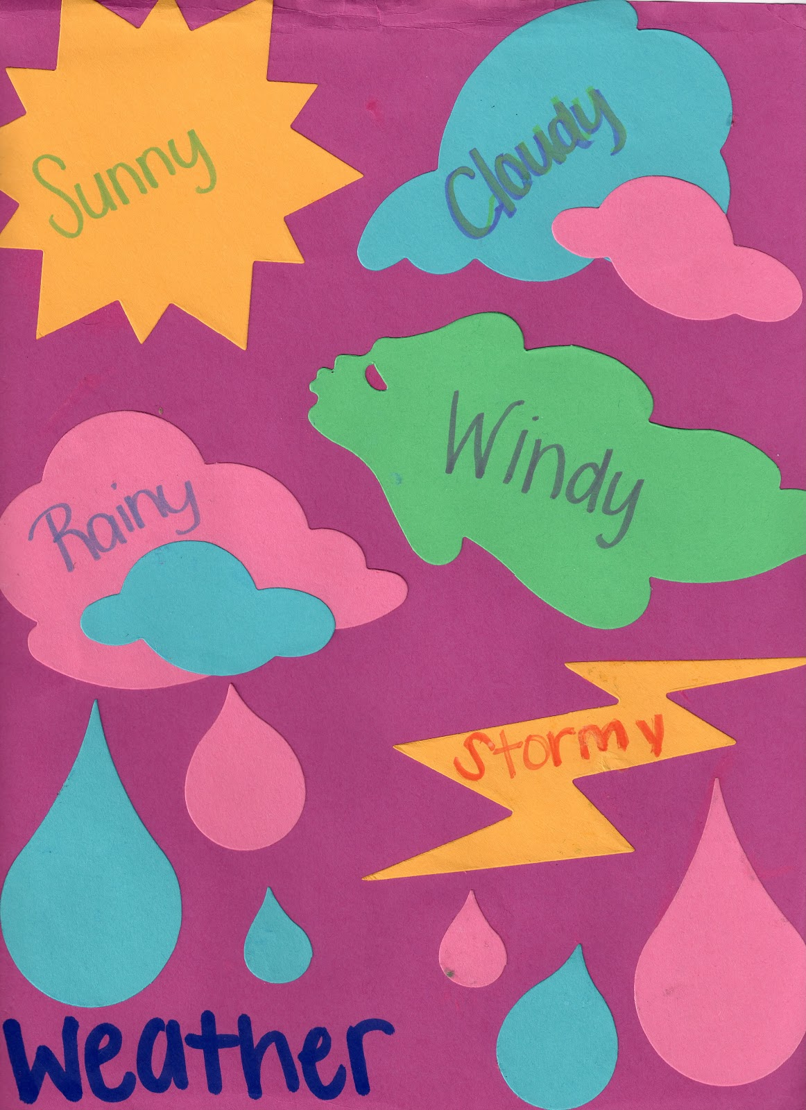 Crafts With Lanie Weather Cut Outs