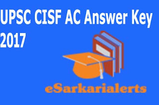 UPSC LDCE CISF AC Answer Key
