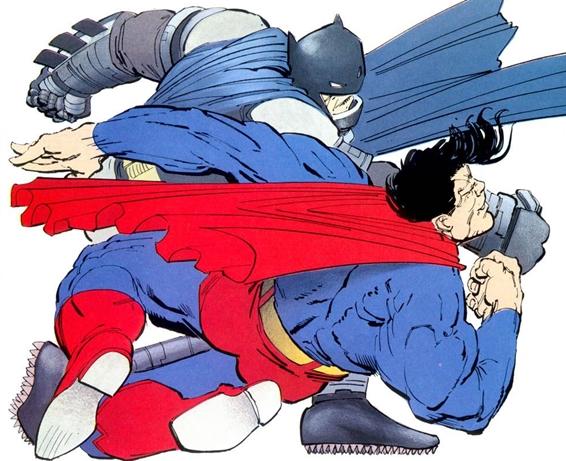 Batman se enfrentó a Superman en 'The Dark Knight Returns'