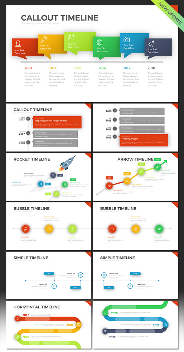 Project Timeline PowerPoint Template by RRgraph GraphicRiver - project timelines