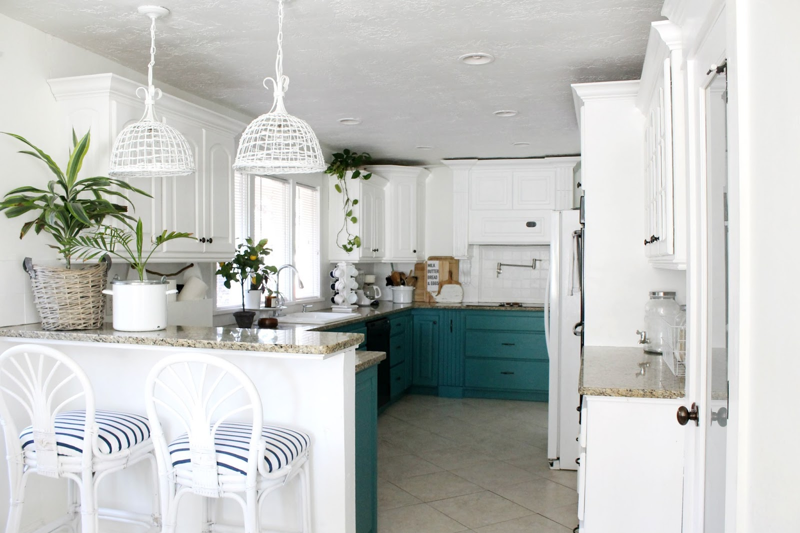 See Our Lucky Green Kitchen Cabinets!! - The Wicker House