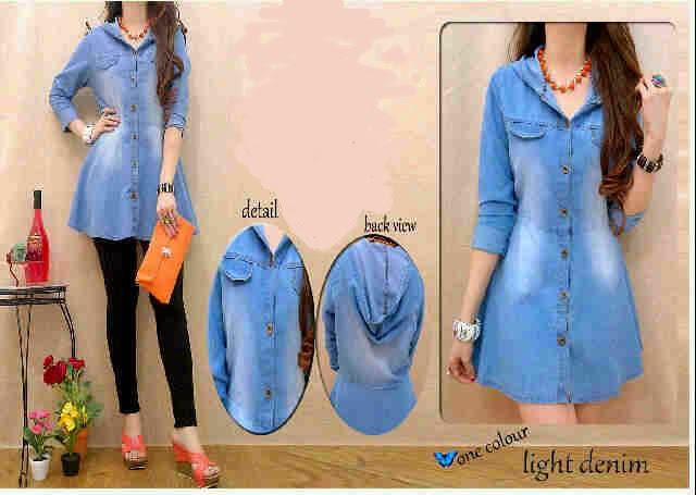 dress jeans warna biru