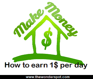 How to earn 1$ per day