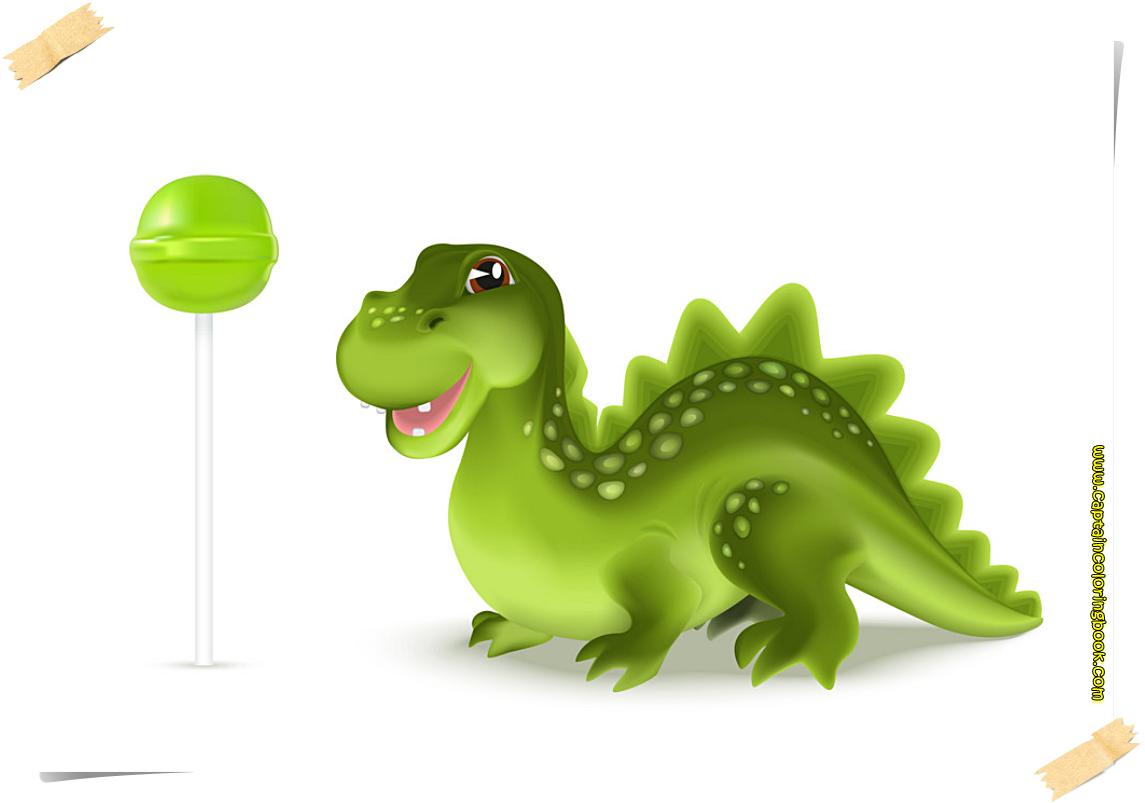 Dragon vector free printable page-Cute cartoon dinosaur dragon ...