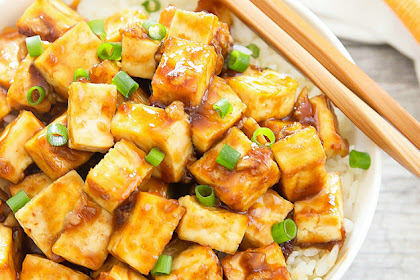 Crispy Baked Garlic Tofu