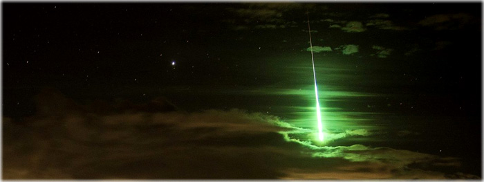 como observar meteoros