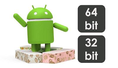 perbedaan kelebihan android 32bi dan 64bit