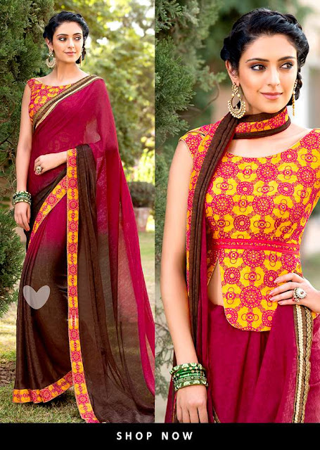 Designer and Stylish Traditional Indian Women Saree 2017