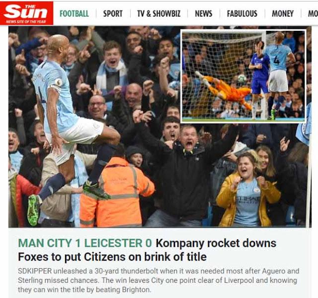 """Man City thắng nhờ """"siêu phẩm thập kỷ"""": Báo Anh đặt cửa vô địch lẫn ăn 3 2"""
