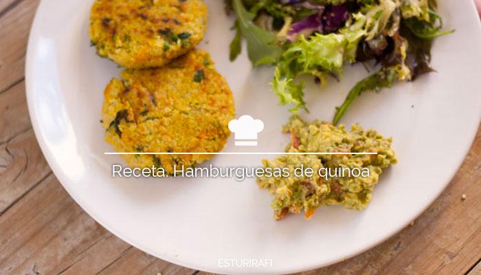 Receta. Hamburguesas de quinoa
