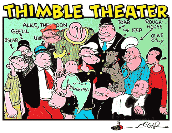 Popeye, Thimble Theatre cast in 1937