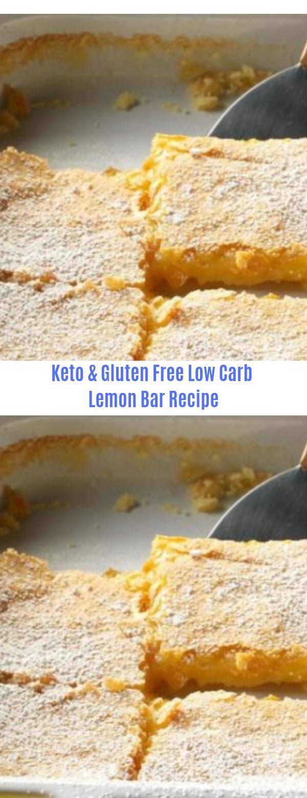 Keto & Gluten Free Low Carb Lemon Bar Recipe