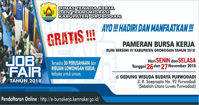 Job Fair DINASKER Kabupaten Grobogan