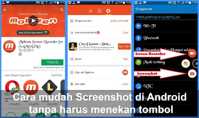 Cara mudah Screenshot di Android tanpa harus menekan tombol