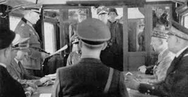 21 June 1940 worldwartwo.filminspector.com Hitler Compiegne France Armistice Foch railway car