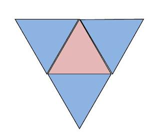 gambar jaring limas segitiga