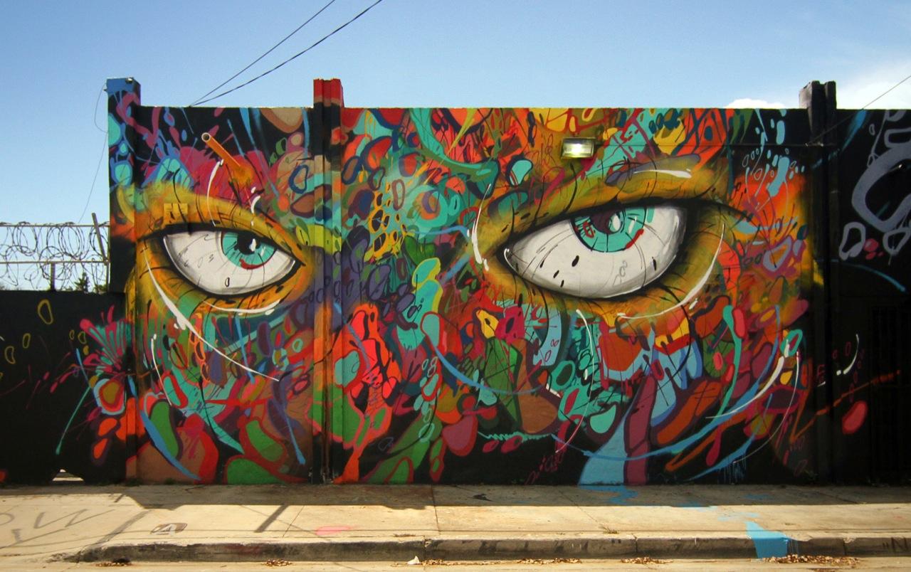 Cool Wall Mural Ideas Abstrk New Mural In Miami Usa Streetartnews Streetartnews