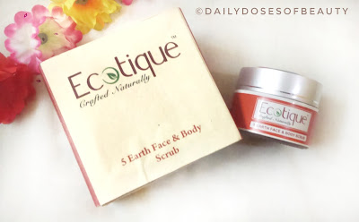 Ecotique Crafted Naturally - 5 Earth Face & Body Scrub Review