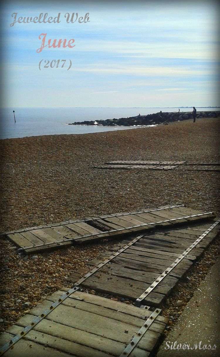 Wooden Slipway on Shingle Beach - Jewelled Web June 2017 Silvermoss Jewellery Blog