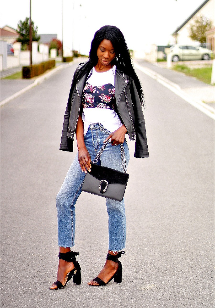 inspiration-look-tendance-rock-perfecto-cuir-jeans-taille-haute-sandales-nouees