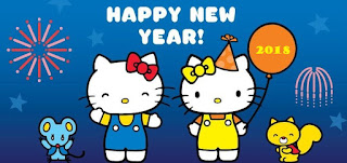 Gambar Hello Kitty Terbaru Happy New Year 2018 Selamat Tahun Baru 2018 Wallpaper HD