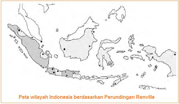 Peta wilayah Indonesia berdasarkan Perjanjian Renville