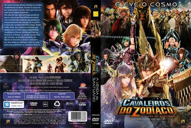 Capa DVD Os Cavaleiros Do Zodíaco A Lenda Do Santuário