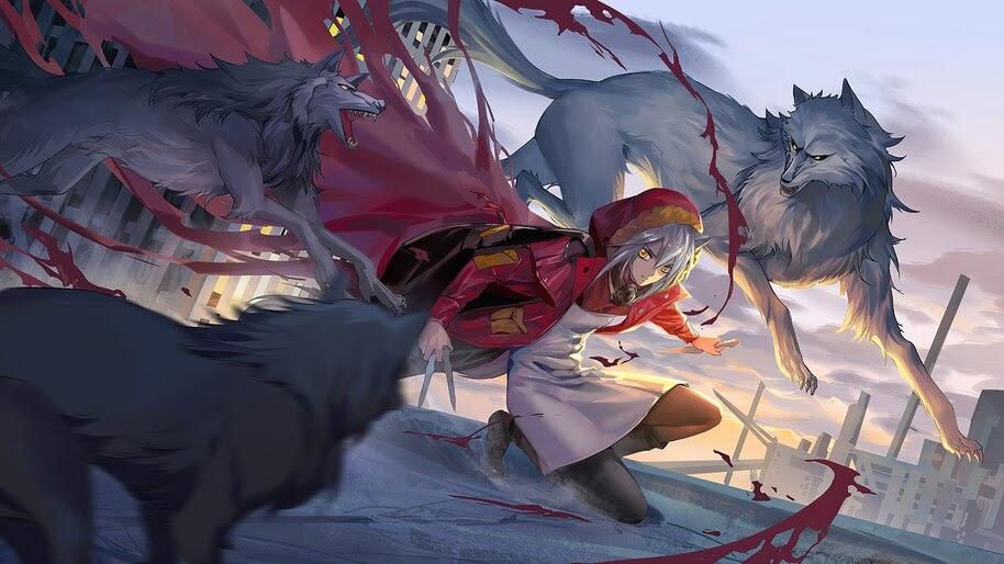 Anime, Girl, Wolves, Projekt Red, Arknights, 4K, #6.1845