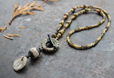 Ogham necklace oak