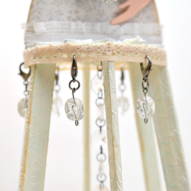 How to Attach Crystal Dangles to Lace by Dana Tatar