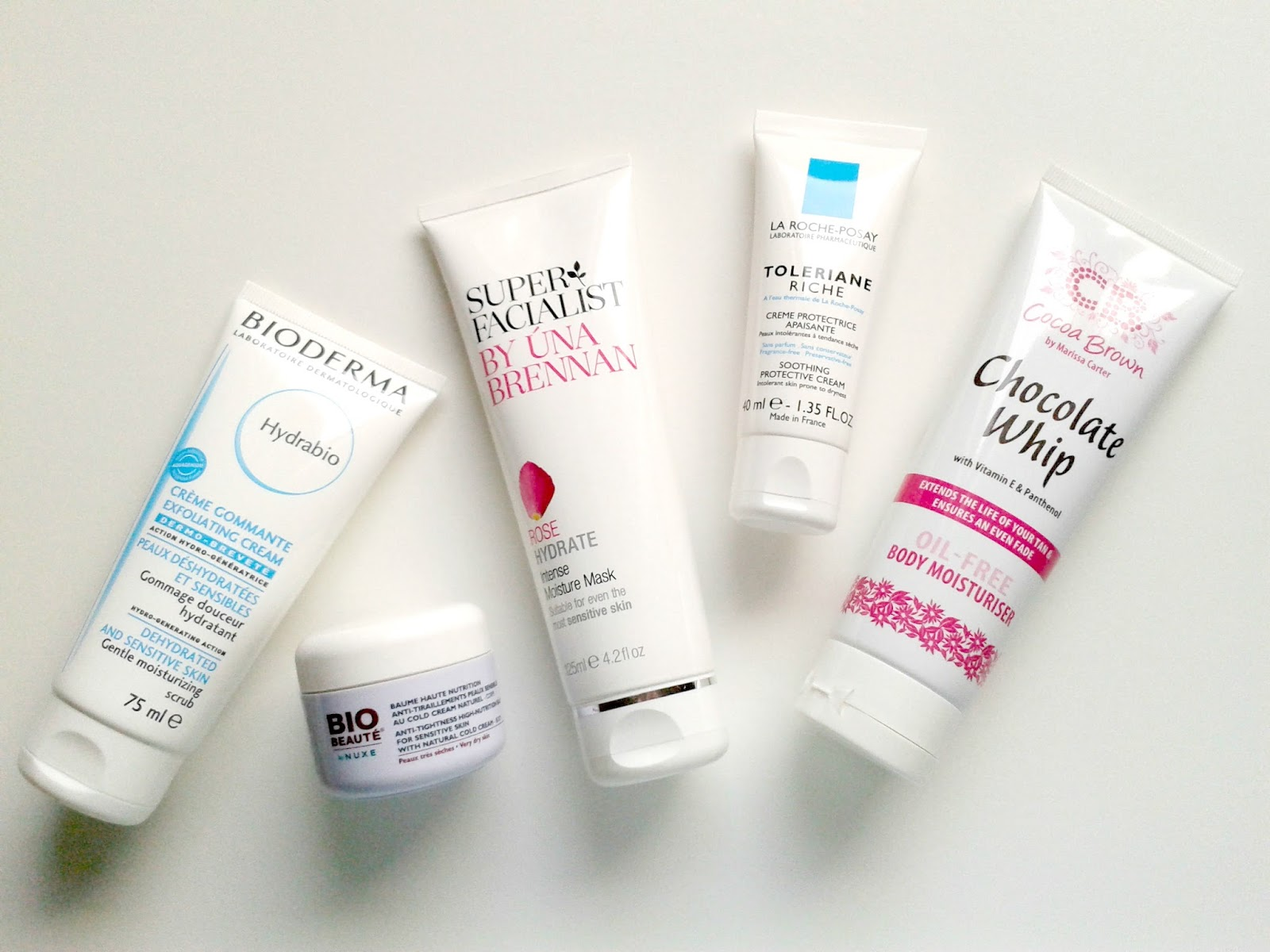 Dry Skin Products Cocoa Brown La Roche-Posay Bioderma Bio Beaute by Nuxe Super Facialist by Una Brennan
