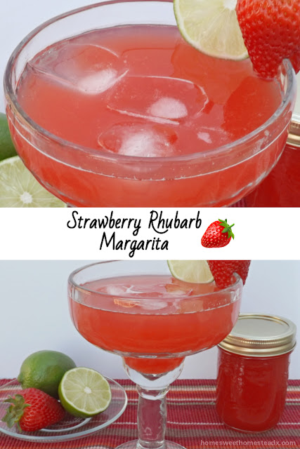 Strawberry Rhubarb Margarita - Home Sweet Homestead