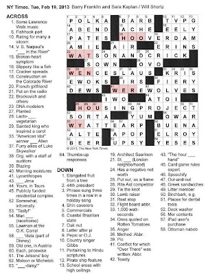The New York Times Crossword in Gothic: 02.19.13 — Questions