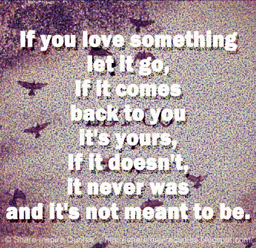 Love Not Meant To Be Quotes: If You Love Something Let It Go, If It Comes Back To You