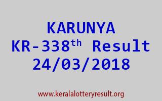 KARUNYA Lottery KR 338 Results 24-03-2018
