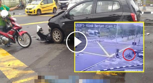 Kemalangan, Penunggang Motosikal Maut, Diseret Hingga Putus Kaki