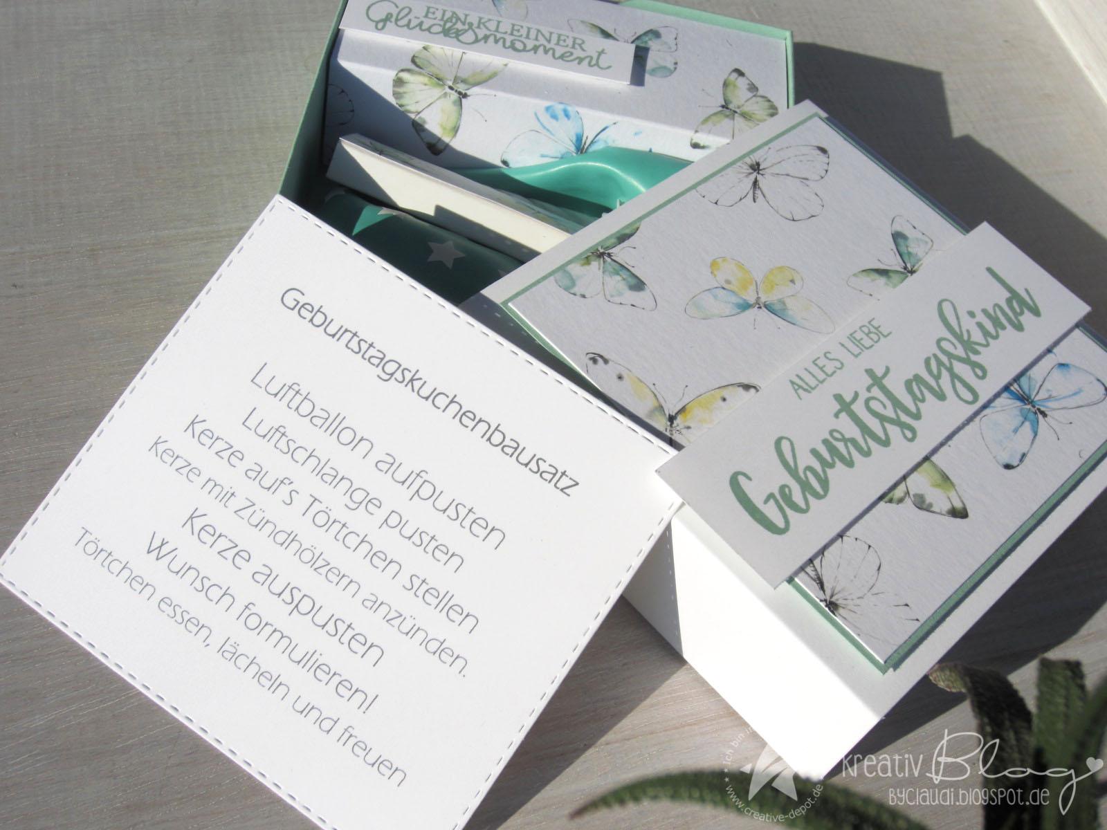 Kreativ Blog by Claudi Geburtstagskuchenbausatz