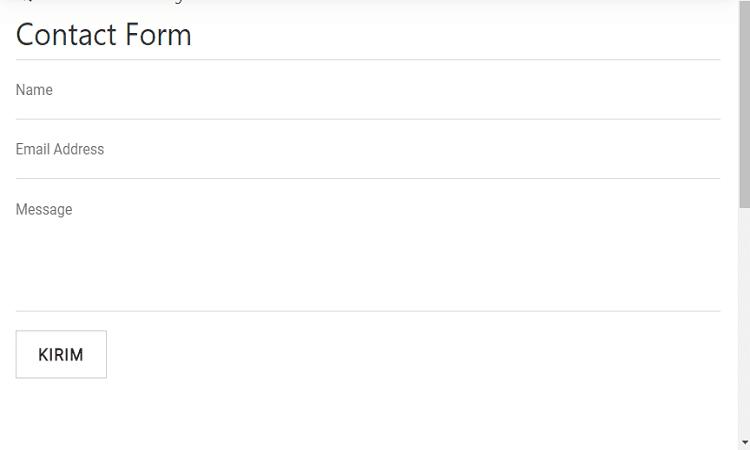 Membuat Contact Form Untuk Blog AMP Pada Halaman Static