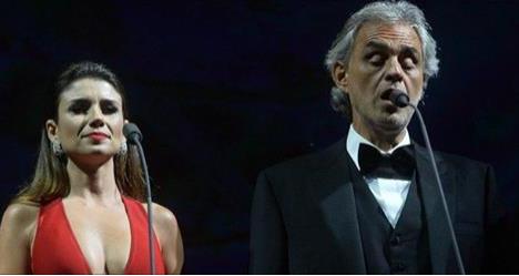 Paula Fernandes abandona dueto com Andrea Bocelli