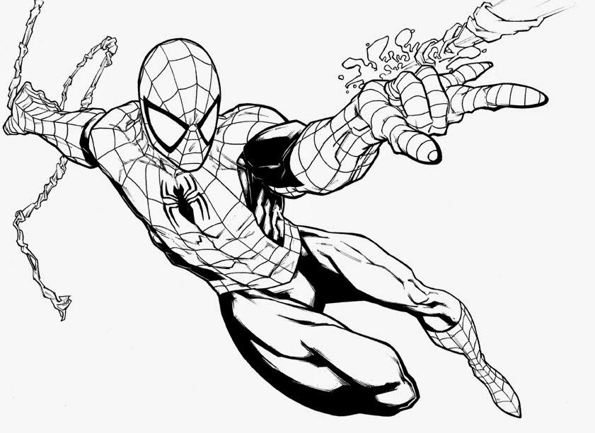 Desenhos Homem Aranha Para Colorir