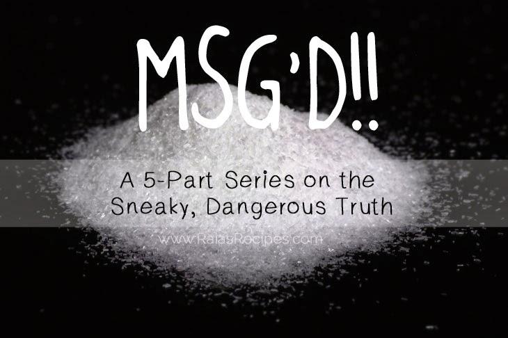 MSG'D!! Part 2: Excitotoxins & the FDA | www.RaiasRecipes.com