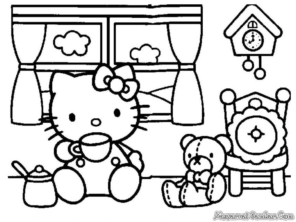Kumpulan Gambar Sketsa Siger Hello Kitty