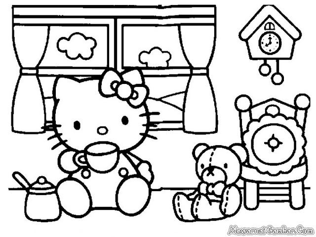 Hello Kitty Meminum Teh Disore Hari