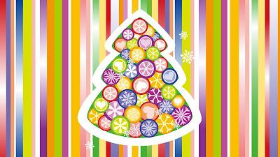 Vrolijk gekleurde kerst wallpaper