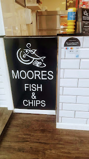Moores Fish and Chip Shop sign